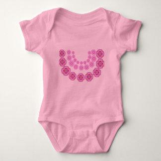 Body Para Bebê Parabéns:  Flores de festões de oferecimento