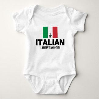 Body Para Bebê Parcialmente italiano é melhor do que nada