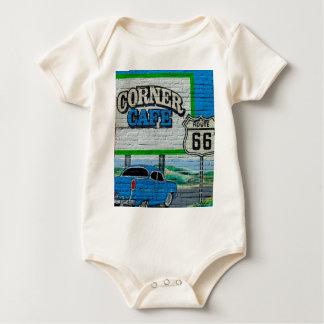 Body Para Bebê Parede de canto do café da rota 66