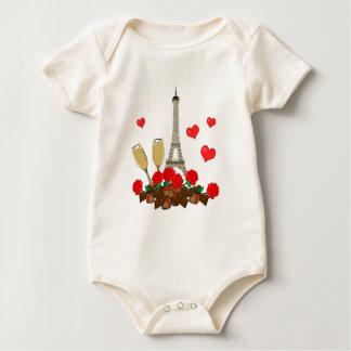 Body Para Bebê Paris, cidade do amor