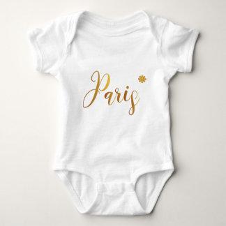 Body Para Bebê Paris-em-Ouro-com-Flor