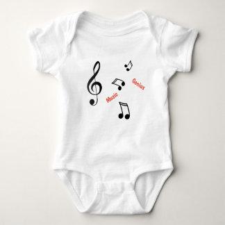 Body Para Bebê Parte superior do bebê/criança das notas musicais