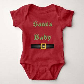 Body Para Bebê Parte superior do bebê do papai noel