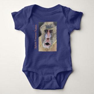 """Body Para Bebê Parte traseira surpreendida """"suposição do babuíno"""