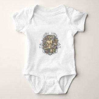 Body Para Bebê partes do corpo do vintage junto