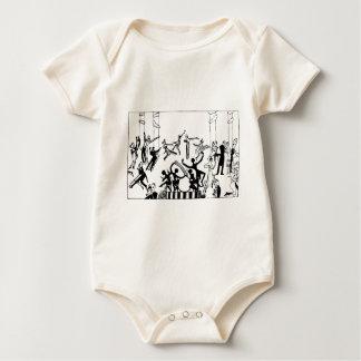 Body Para Bebê Partido vívido com dança