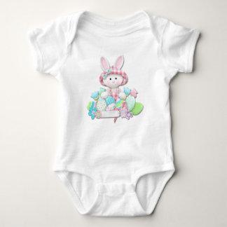 Body Para Bebê Páscoa - coelho acolchoado bonito