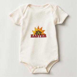 Body Para Bebê páscoa do vermelho da alegria