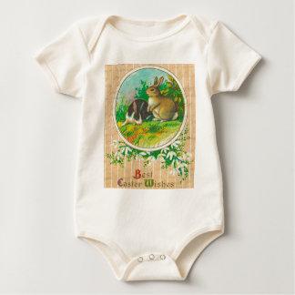 Body Para Bebê Páscoa do vintage