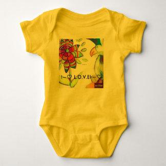 Body Para Bebê Pássaro amarelo do Tshirt