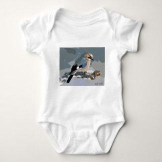 Body Para Bebê Pássaro de Jay no inverno