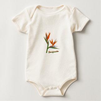Body Para Bebê Pássaro de paraíso