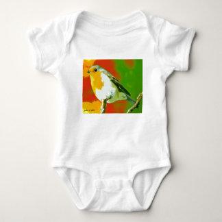 Body Para Bebê Pássaro do pisco de peito vermelho