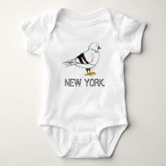 Body Para Bebê Pássaro do pombo da Nova Iorque NYC