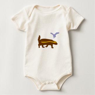 Body Para Bebê Pássaro do texugo de mel