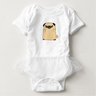 Body Para Bebê Pássaro dobro do Pug