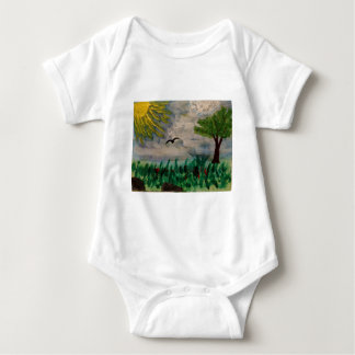 Body Para Bebê Pássaro no prado