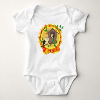 Body Para Bebê Pássaros e Birdhouse no outono