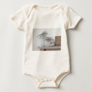 Body Para Bebê Pássaros e carneiros de madeira do vidoeiro