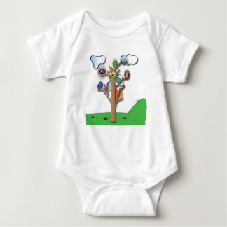 Body Para Bebê Pássaros que reunem junto o bebê uma vez