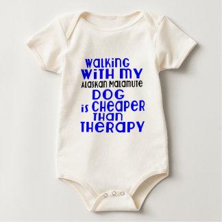 Body Para Bebê Passeio com meu design do cão do Malamute do