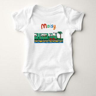 Body Para Bebê Passeio de Maisy e de amigos no trem verde