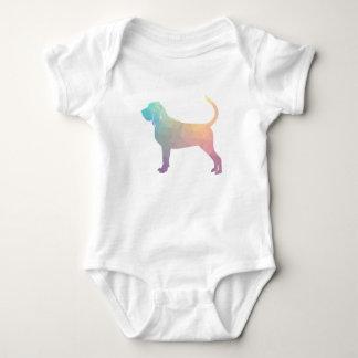 Body Para Bebê Pastel colorido da silhueta do teste padrão de Geo