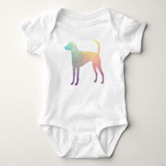 Body Para Bebê Pastel da silhueta do teste padrão de Geo do