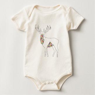 Body Para Bebê Pastel geométrico do veado