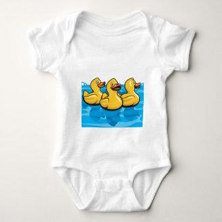 Body Para Bebê Patos de borracha no banho