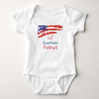 Body Para Bebê Patriota do americano de Lil
