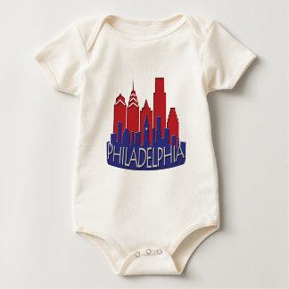 Body Para Bebê Patriota do newwave da skyline de Philly