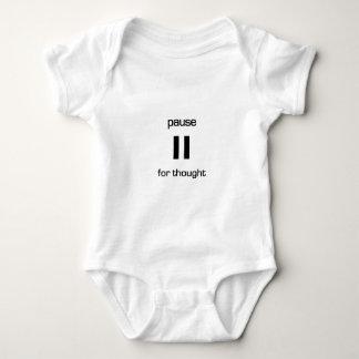 Body Para Bebê Pausa para o pensamento (texto preto)