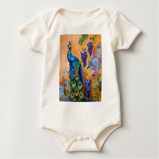 Body Para Bebê Pavão e uvas