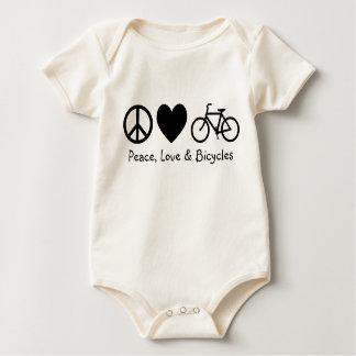 Body Para Bebê Paz, amor & bicicletas