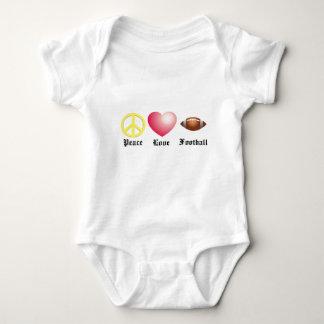 Body Para Bebê Paz, amor, futebol