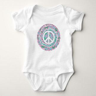 Body Para Bebê Paz psicadélico