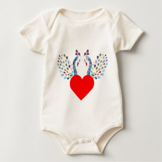 Body Para Bebê pecock do amor