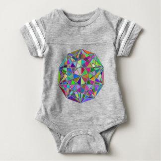 Body Para Bebê Pedra de gema tirada Kaleidescope colorida