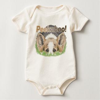 Body Para Bebê Peekaboo do Corgi