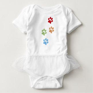 Body Para Bebê Pegada do cão
