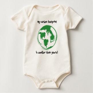 Body Para Bebê Pegada do carbono