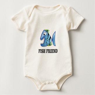 Body Para Bebê peixes do amigo yeah
