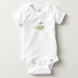 Body Para Bebê Peixes do anjo com guarda-chuva