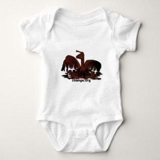 Body Para Bebê pelicano marrom lubrificado