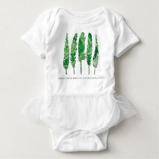Body Para Bebê Penas verdes de Swirly
