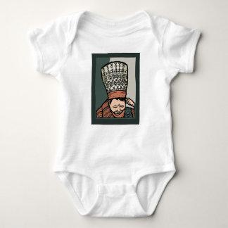Body Para Bebê Pensamento asiático central da mulher (no chapéu)