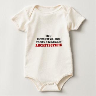 Body Para Bebê Pensamento demasiado ocupado sobre a arquitetura