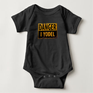 Body Para Bebê PERIGO, EU YODEL sinal de aviso de advertência do