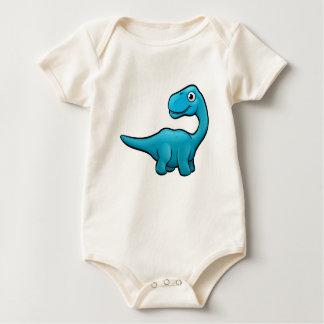 Body Para Bebê Personagem de desenho animado do dinossauro do